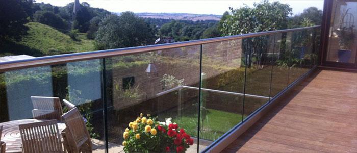 Glass balustrades option